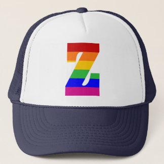 Rainbow Letter Z Trucker Hat