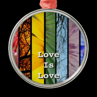 Rainbow LGBT Pride Symbol Rear View Mirror Hanger Metal Ornament