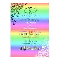 Rainbow LGBT Wedding Invitations