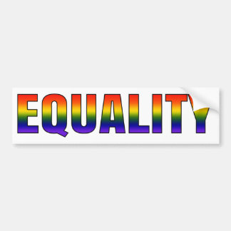 Rainbow LGBTQ Equality Bumper Sticker