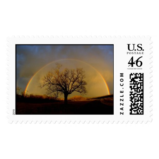 rainbow, Life is beautiful Stamp