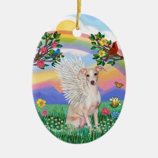 Rainbow Life - Italian Greyhound (fawn) Ceramic Ornament