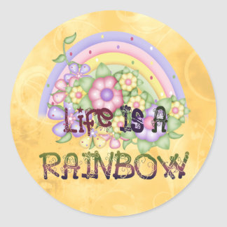 Rainbow Life Round Stickers