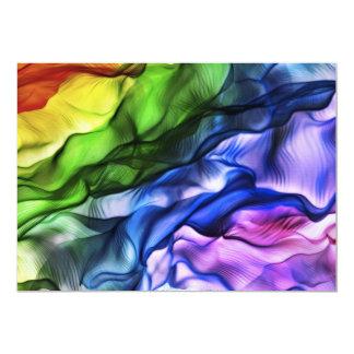 "Rainbow_light 5"" X 7"" Invitation Card"