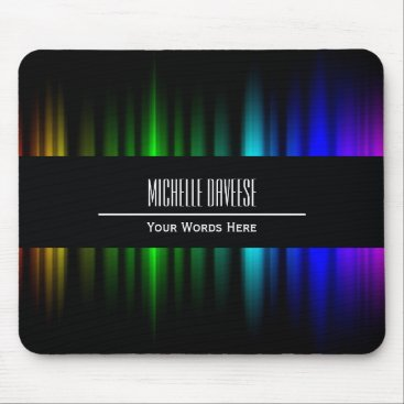 Rainbow Light Black Business Set   Mousepad