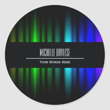 Rainbow Light Black Business Set | Sticker