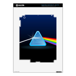 Rainbow Light Separation with Triangle iPad 3 Decal
