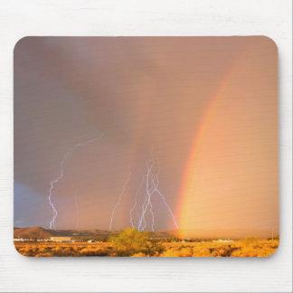 Rainbow Lightning Mouse Pad