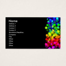 Rainbow Lights Business Card at Zazzle