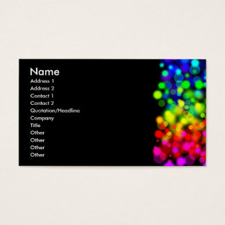Rainbow Lights Business Card