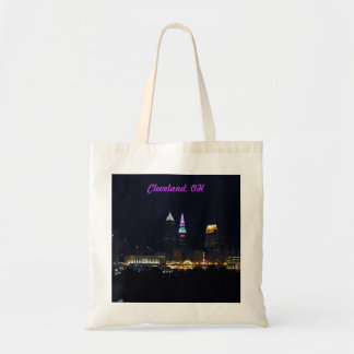 Rainbow Lights Cleveland OH Tote Bag