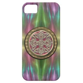 Rainbow Lights Gold Stone Celtic Shield Knot iPhone 5 Case