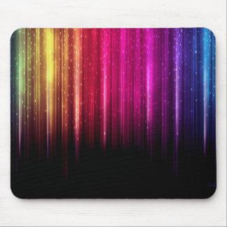 Rainbow lights mouse pad