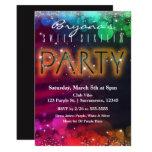 Hand shaped Rainbow Lights Sparkle Dance Club Party Invitation