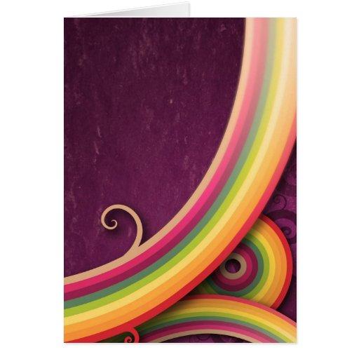 Rainbow lines card