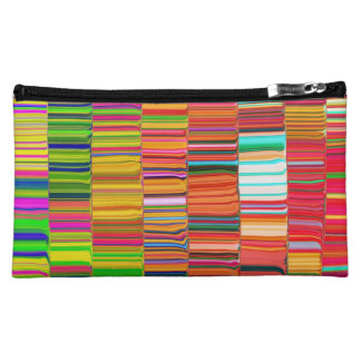Rainbow lines cosmetic bags
