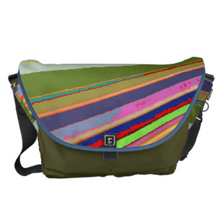 Rainbow Lines Large Messenger Bag
