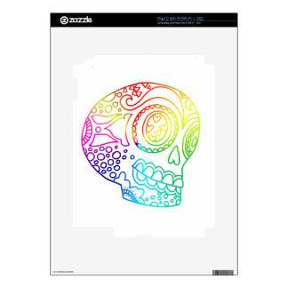 Rainbow Lines Sugar Skull in Love iPad 2 Skins