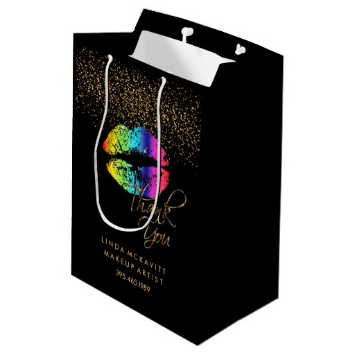 Rainbow Lip Lipstick Color - Thank You Medium Gift Bag