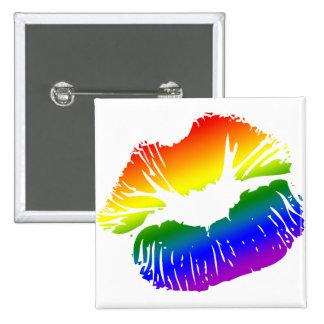 Rainbow Lips 1 Button