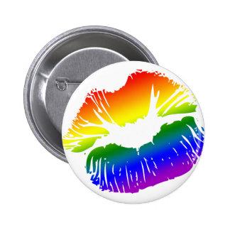 Rainbow Lips 1 Pinback Button