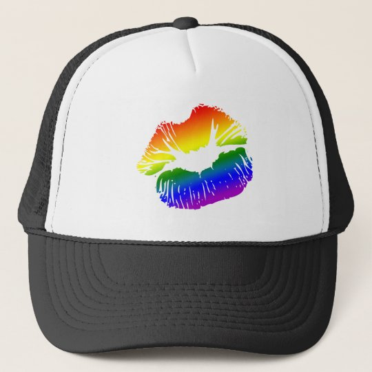 Rainbow Lips 1 Trucker Hat