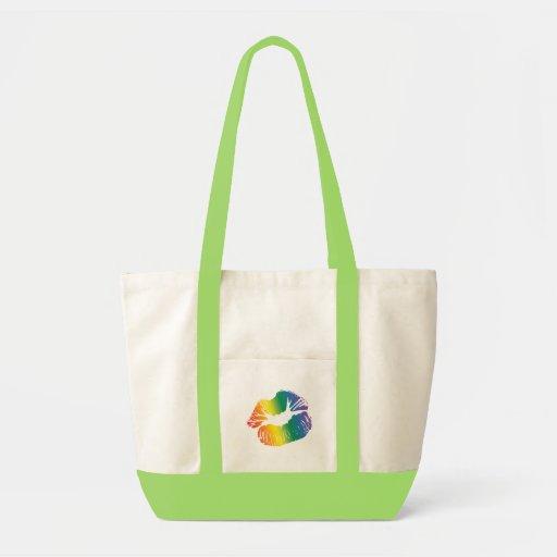 Rainbow Lips 2 Impulse Tote Bag