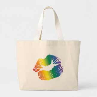 Rainbow Lips 2 Large Tote Bag