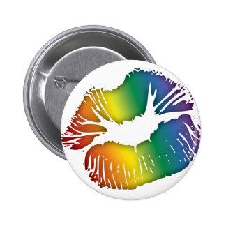 Rainbow Lips 3 Button