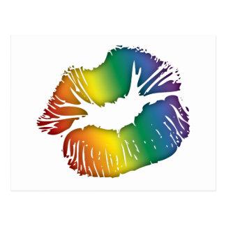 Rainbow Lips 3 Postcard