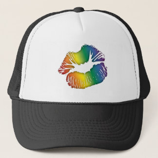Rainbow Lips 3 Trucker Hat