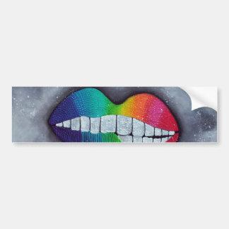 Rainbow Lips Bumper Sticker