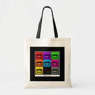 Rainbow Lips Collage Bag
