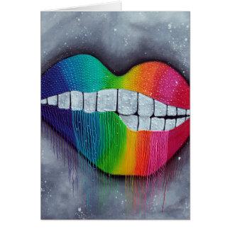 Rainbow Lips Greeting Card