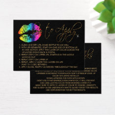 Rainbow Lips  - How To Apply Business Card at Zazzle