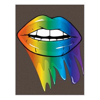 Rainbow Lips... Luscious Postcard