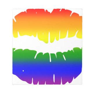 Rainbow Lips Note Pad
