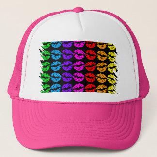 Rainbow Lips Pattern Trucker Hat