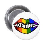 Rainbow Lips Pinback Button