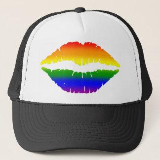 Rainbow Lips Trucker Hat