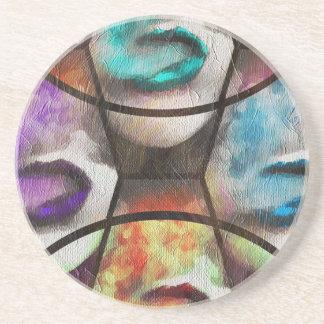 Rainbow Lips Vape Drink Coaster