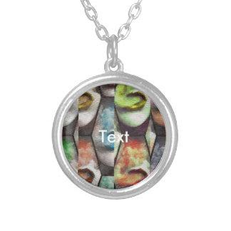 Rainbow Lips Vape Grunge Silver Plated Necklace