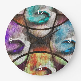 Rainbow Lips Vape Large Clock