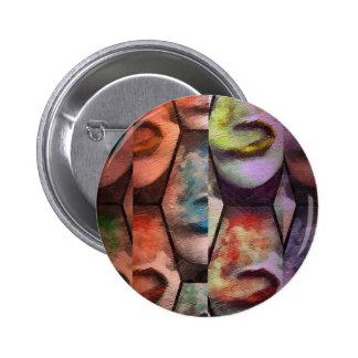 Rainbow Lips Vape Pinback Button