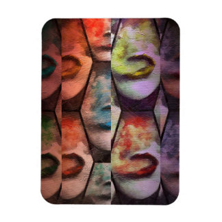 Rainbow Lips Vape Rectangular Photo Magnet
