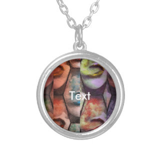 Rainbow Lips Vape Silver Plated Necklace