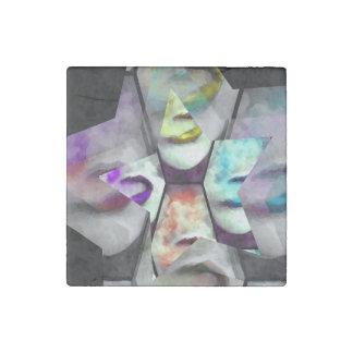 Rainbow Lips Vape Stone Magnet