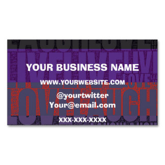 Rainbow Live Love Laugh Magnetic Business Card