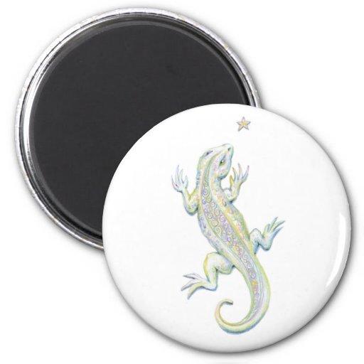 Rainbow Lizard 2 Inch Round Magnet