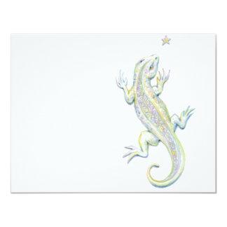 Rainbow Lizard Card
